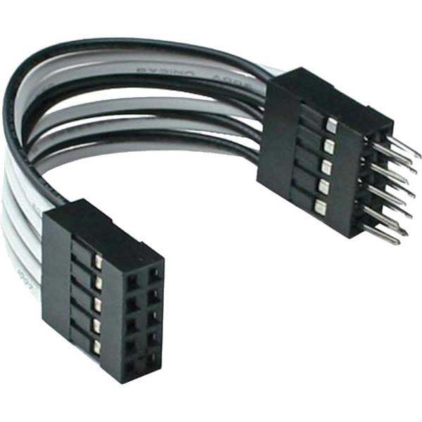 USB 2.0 Verlängerung, intern, 2x 5pol Pfostenstecker auf Pfostenbuchse, 5cm