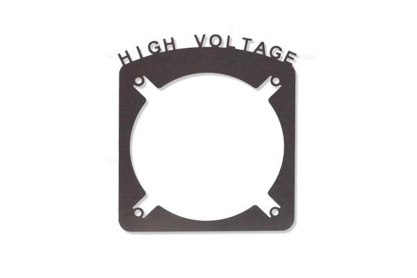 """Laser Cut """"High Voltage"""" Abdeckung für 120mm Radiatoren Lüftergitter"""
