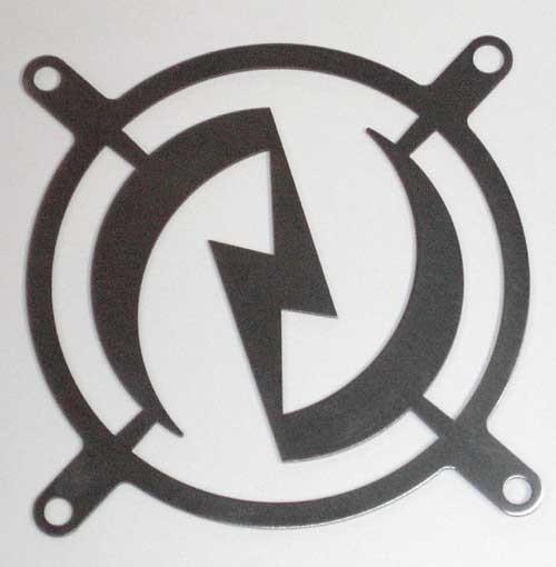 Lüftergitter Laser Cut Blitz 92x92mm