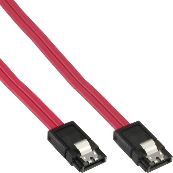 SATA 6Gb/s Kabel, mit Lasche, 0,3m