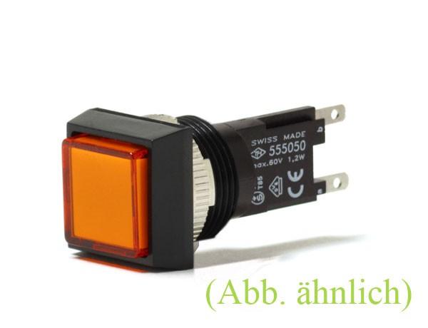 TH25 Signallampe, 18x24mm, Frontrahmen angeschrägt, Steckanschluss