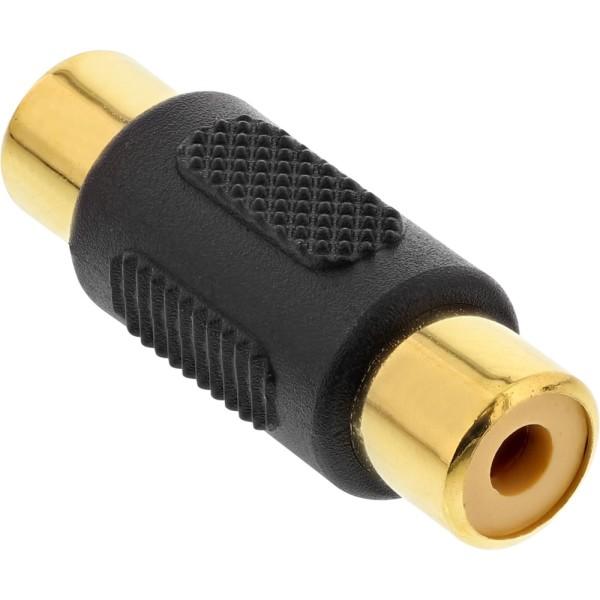Audio Adapter, Cinch Buchse an Cinch Buchse, vergoldet
