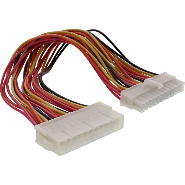 Strom Verlängerung intern, 24pol ATX Stecker / Buchse, Netzteil zu Mainboard, 0,2m