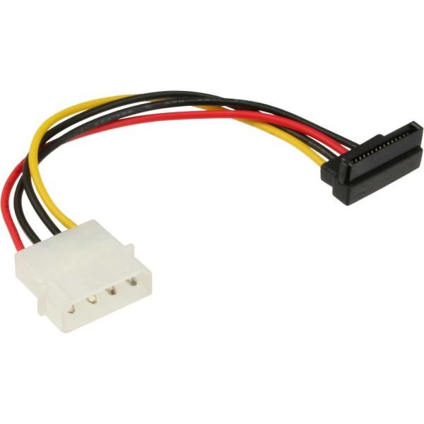 """SATA Stromadapterkabel, 1x 13,34cm (5,25"""") Buchse an 15pol SATA Stecker, nach unten abgewinkelt"""