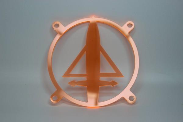 Lüftergitter Laser Cut Delta UV 80x80mm