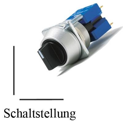 TH25 2-Stell.-Drehschalter, IP65, Ø=22,5mm