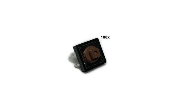 Mini-Taster 12x12 7,3mm eckig