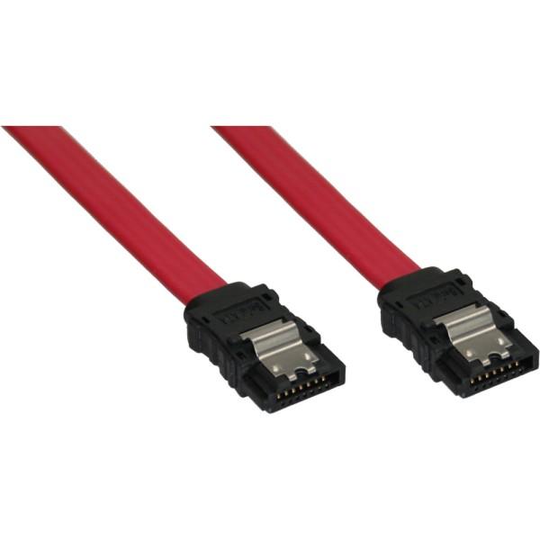 SATA Anschlusskabel, mit Sicherheitslasche, 0,7m