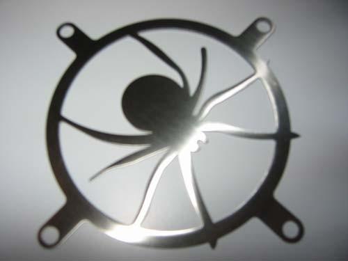 Lüftergitter Laser Cut Fat Spider 80x80mm