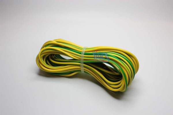 Drahtlitze 1x0,75mm², grün-gelb, Rolle m. 10m, H05V-K