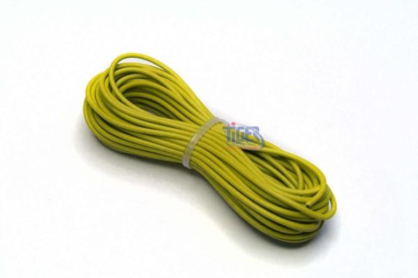 Drahtlitze 1x0,5mm², gelb, Rolle m. 10m, H05V-K,