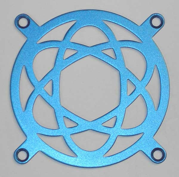Lüftergitter Laser Cut Atomic 80x80mm
