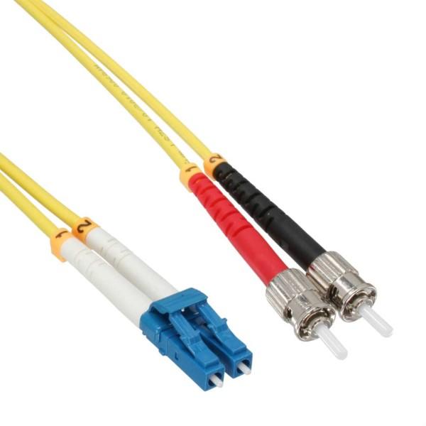 LWL Duplex Kabel, LC/ST, 9/125µm, OS2, 10m