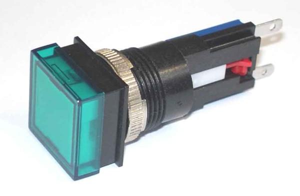 TH25 Signallampe, 18x18mm, Frontrahmen verdeckt, Steckanschluss