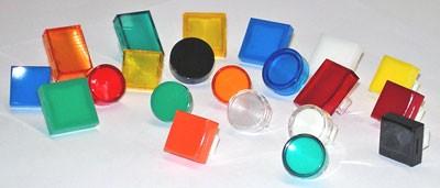 Druckhaube, Kalotte, TH25, 15x21, flach, rot-transparent, IP67