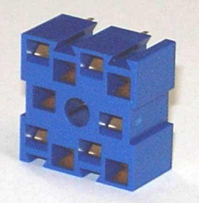 Stecksockel für zwei TH25 Kontaktelem. mit Lampenanchluß