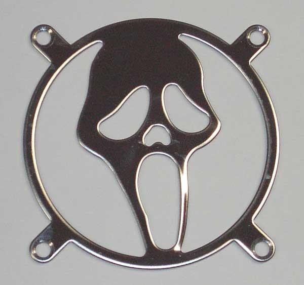 Lüftergitter Laser Cut Scream 80x80mm