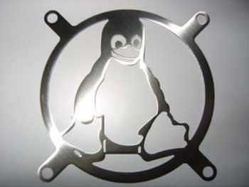 Lüftergitter Laser Cut Pinguin 60x60mm