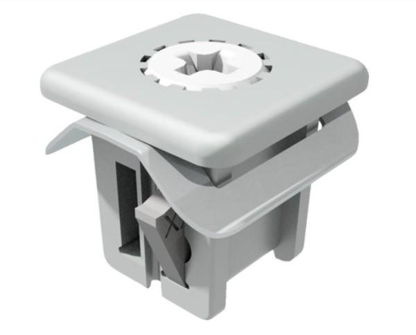 Metall Clip für (9,5)²mm Öffnung, Klemmbereich: 2,9-3,2mm