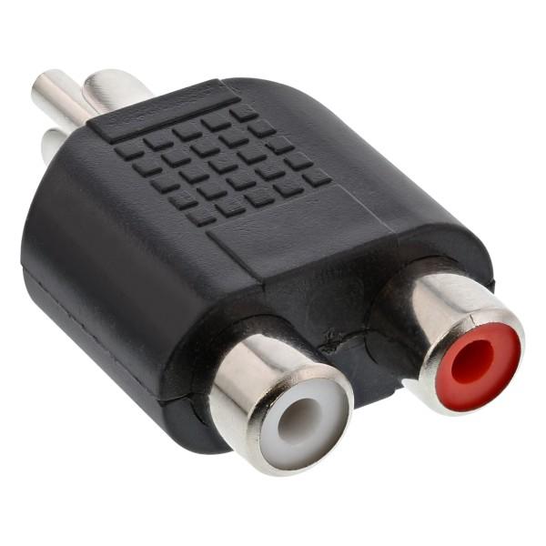 Audio Adapter, Cinch Stecker an 2x Cinch Buchse