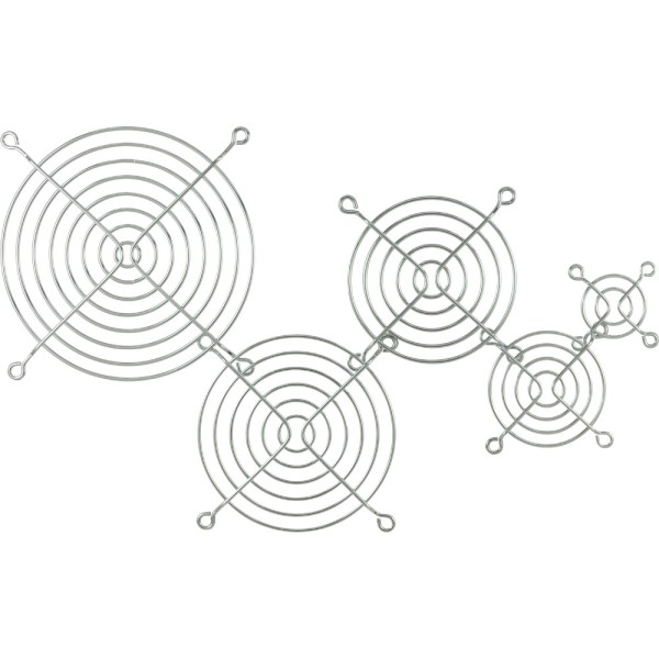 Lüftergitter Metall, verchromt, 120x120mm