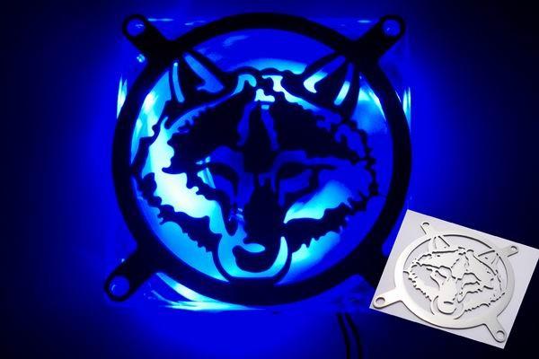 Lüftergitter Laser Cut Wolf 92x92mm