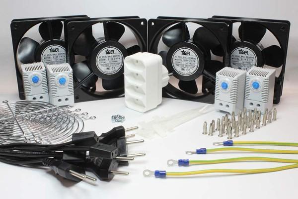 """Kühler Set """"4-4"""" für Serverschrank Kühlung, 230V AC"""